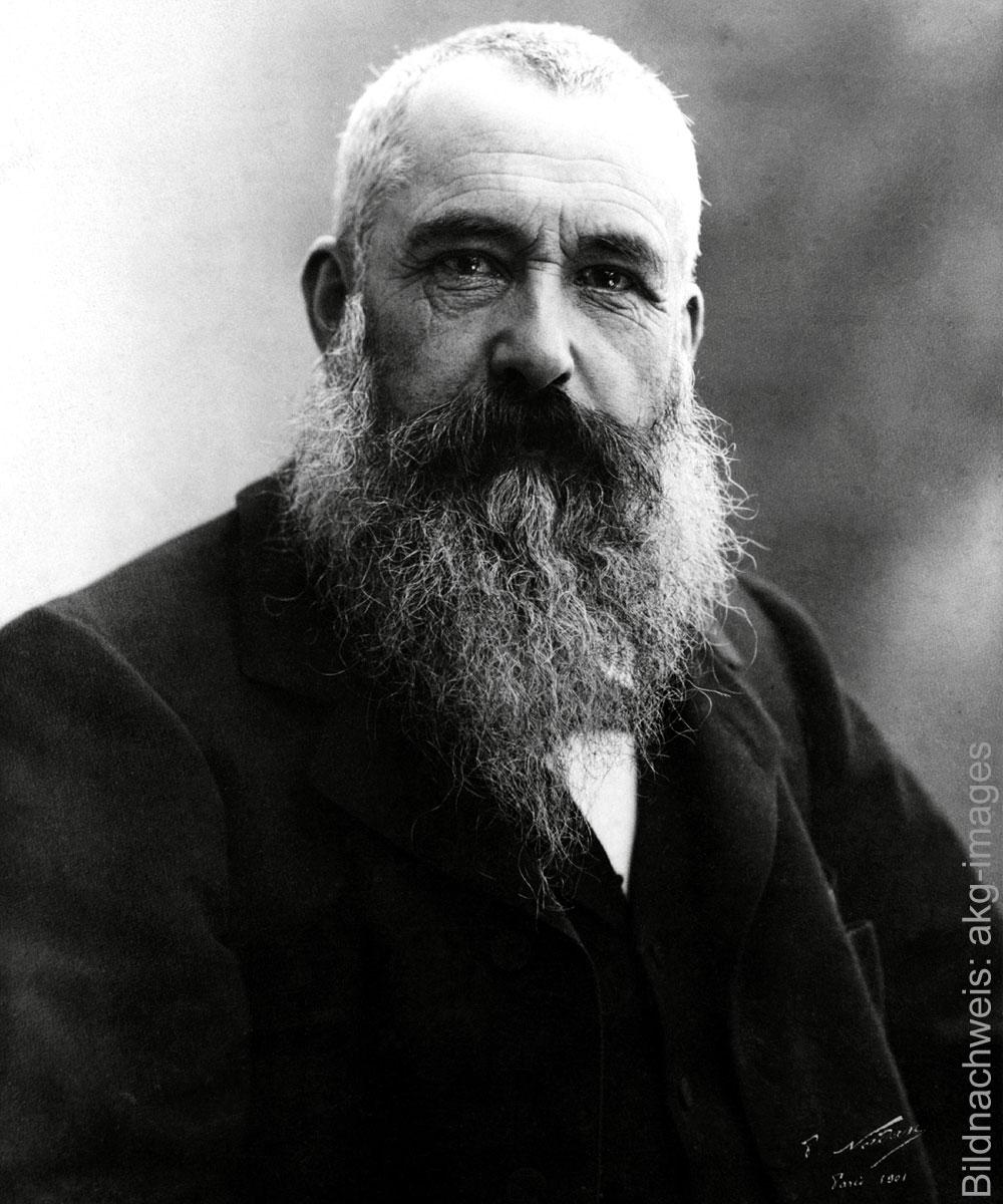 Porträt des Künstlers Claude Monet