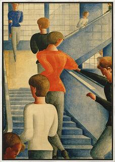 "Bild ""Bauhaustreppe"" (1932), gerahmt"