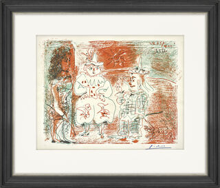 """Bild """"L'Écuyère et les clowns"""" (1961)"""