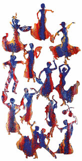 "Wandskulptur ""Flamenco"", Stahl"