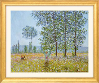 "Bild ""Felder im Frühling"" (1887), Version goldfarben gerahmt"