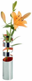"Vase ""Loom klein"" (ohne Deko), Edelstahl"