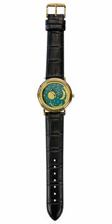 """Armbanduhr """"Himmelsscheibe"""", goldbeschichtet"""