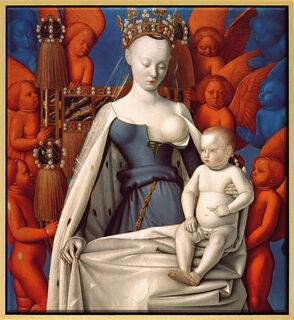 """Bild """"Madonna umgeben von Cherubim und Seraphim"""" (um 1450), gerahmt"""