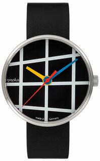 """Armbanduhr """"Window schwarz"""" im Bauhaus-Stil"""