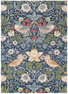 """Teppich """"Strawberry Thief blau"""" (140 x 200 cm) - nach William Morris"""