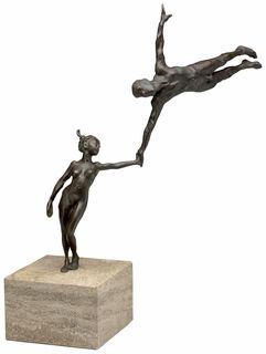 """Skulptur """"Vertrauen - Kunststück Partnerschaft"""", Bronze"""
