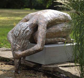 """Skulptur """"Die Haarwäscherin"""" (2020) (Bronze)"""