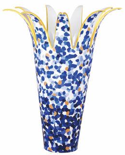"""Porzellanvase """"Marmorino Bleu"""" - von Bernardaud"""