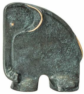 "Skulptur / Buchstütze ""Elefant"", Bronze"