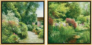 """2 Bilder """"Le Jardin Baudy à Giverny"""" + """"Le Mois de Mai à Giverny"""" im Set"""