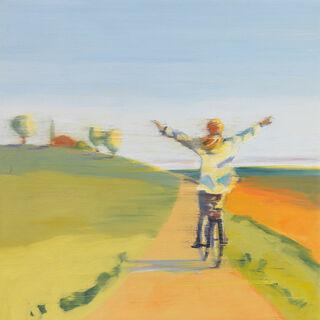 """Bild """"Mein Herz fliegt mit dem Wind"""" (2020), auf Keilrahmen"""