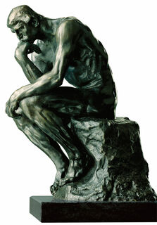 "Skulptur ""Der Denker"" (38 cm), Version in Bronze"