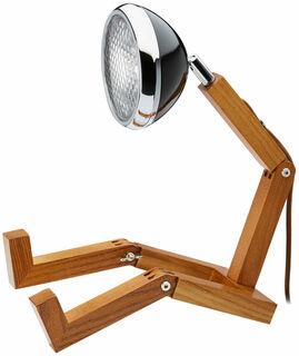 "Flexible LED-Tischlampe ""Mr. Volter"", schwarze Version"