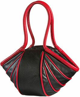 """Handtasche """"Lady-Stripe"""", Version schwarz/rot"""