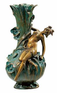"""Vase """"Coquelicot"""", Version in Kunstbronze"""