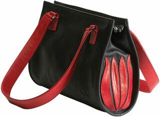 """Handtasche """"Black and Red Tulip"""""""