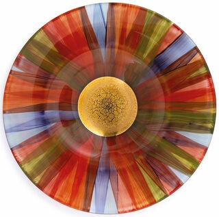 """Glasschale """"Indian Summer"""" mit Golddekor"""