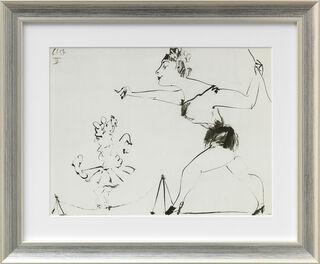 """Bild """"Ohne Titel"""" (1953), gerahmt"""