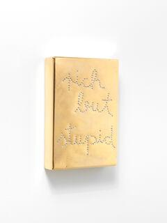 """Schriftzug-Objekt """"Rich but stupid 1"""" (2019) (Unikat)"""
