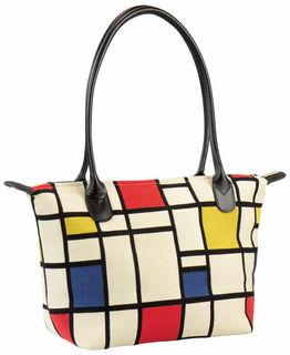 """Handtasche """"Komposition in Rot, Blau und Gelb"""""""