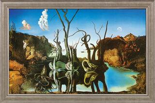 """Bild """"Schwäne spiegeln Elefanten wider"""" (1937), gerahmt"""