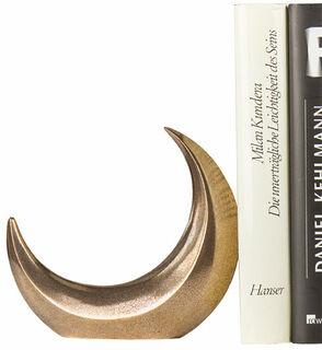 "Skulptur / Buchstütze ""Mond"", Bronze"