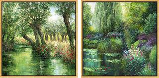 "2 Bilder ""Le Marais Poitevin"" + ""Giverny en Mai"" im Set"