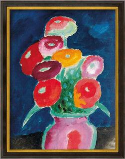 """Bild """"Blumen in einer Vase"""" (1918), gerahmt"""