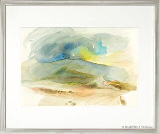 """Bild """"Landschaft mit Wolken"""" (Original / Unikat), gerahmt"""