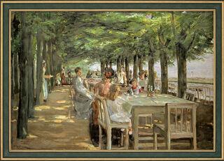 "Bild ""Terrasse im Restaurant Jacob"" (1902-03), gerahmt"