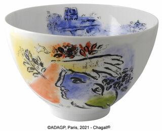 """Kollektion Marc Chagall von Bernardaud - Salatschale """"Le ciel bleu"""", Porzellan"""