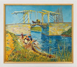 """Bild """"Zugbrücke in Arles (Le Pont de Langlois)"""" (1888), gerahmt"""