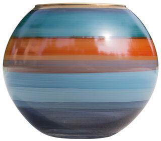 """Glasvase """"Blue Sea"""" mit Golddekor"""
