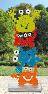 "Gartenskulptur ""Akrobaten-Monsterturm"""