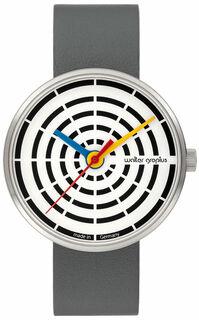 "Armbanduhr ""Space Loops weiß"" im Bauhaus-Stil"