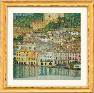 """Bild """"Malcesine am Gardasee"""" (1913), gerahmt"""