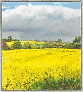 """Bild """"Sommertag - es wird gleich regnen"""" (2010), gerahmt"""