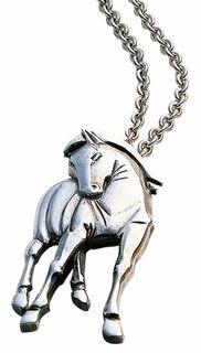 """Anhänger """"Hommage à Franz Marc"""" mit Kette, Version Silber"""
