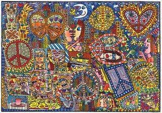 "Teppich ""Give Peace a Chance"" (230 x 160 cm)"