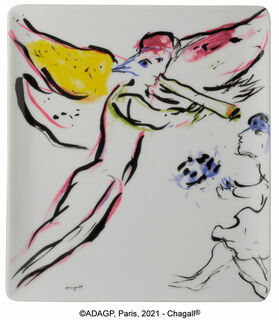 "Kollektion Marc Chagall von Bernardaud - Porzellanschale ""Ange Rouge"""