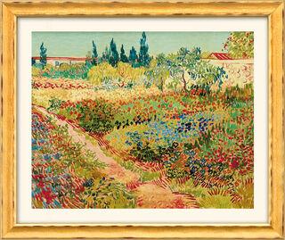 """Bild """"Blühender Garten mit Pfad"""" (1888), gerahmt"""