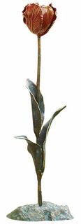 """Gartenobjekt """"Kleine Tulpe"""", Bronze"""