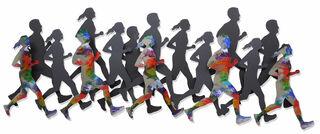 "Wandskulptur ""Runners"", Stahl"