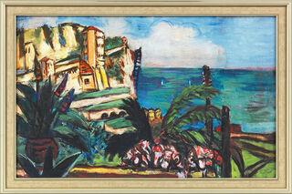 """Bild """"Riviera-Landschaft mit Felsen"""" (1942), gerahmt"""