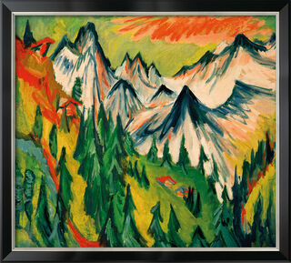 "Bild ""Berggipfel"" (1918), gerahmt"