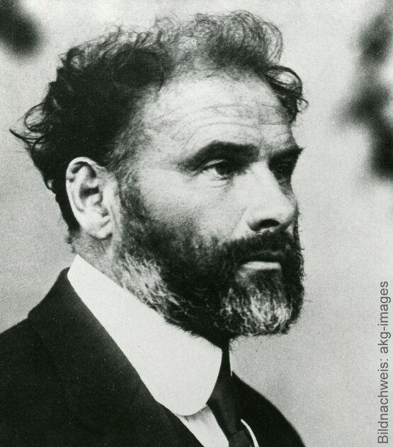 Porträt des Künstlers Gustav Klimt