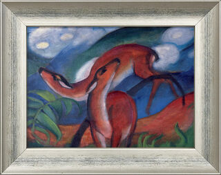 "Bild ""Rote Rehe II"", 1912, gerahmt"